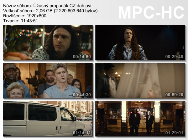 Re: Úžasný propadák / The Disaster Artist (2017)