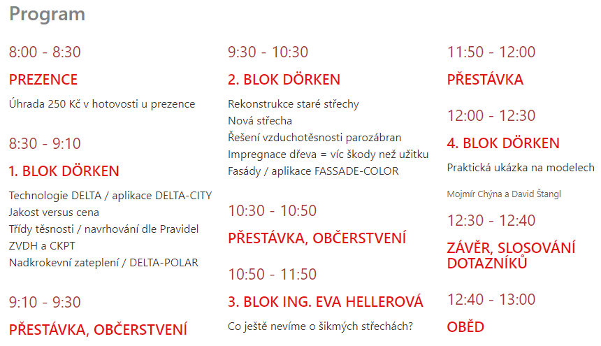 Program fórum DELTA FÓRUM 2019
