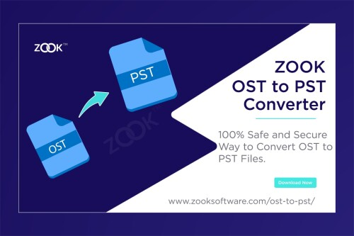 Download ZOOK OST to PST Converter offers to migrate Exchange OST to Outlook PST by using split and merge option. It converts OST to PST to batch export/import OST to Outlook 2019, 2016, 2013, 2010, 2007, 2003, etc. Explore More: https://www.zooksoftware.com/ost-to-pst/